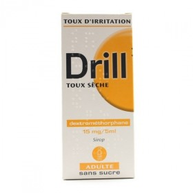 DRILL sans sucre 15mg/5ml Sirop toux sèche adulte Fl/125ml