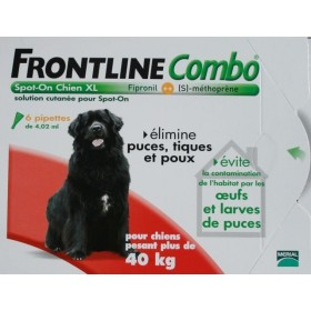 Frontline Combo Spot On Chien plus de 40 kg 6pipettes